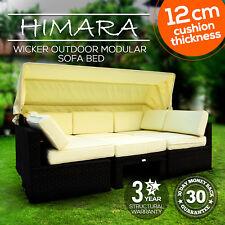 Wicker Outdoor Modular Sofa Daybed Rattan Patio Furniture Garden Lounge Setting