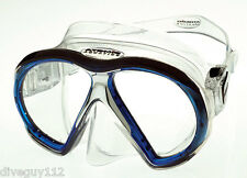 Atomic SubFrame Dive Mask for FreeDiving Scuba Snorkeling Clear/Blue