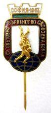 FILA WORLD WRESTLING CHAMPIONSHIS SOFIA, BULGARIA 1963 OFFICIAL PIN BADGE ENAMEL