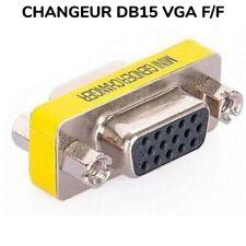 ADAPTATEUR CHANGEUR DE GENRE DB15 VGA FEMELLE/FEMELLE