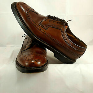 Florsheim Imperial Pebbled Brown Calfskin 93602 Brown 5 Nail V-Cleat Size 8.5 E