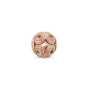 NEW Thomas Sabo Karma Bead K0009 Rose Wave Sterling Silver 925