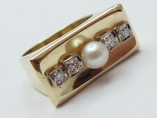 RING GOLD 585  BRILLANTEN 0,15 CT PERLE 11.5201.4498