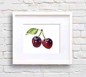 Cherries Watercolor ART Print