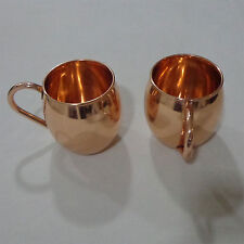 100% PURE COPPER MOSCOW MULE MUG - SET OF 2- GREAT FOR ANY CHILLED BEVERAGE