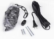 Black 14' Swag Plug In Hanging Kit For Chandelier Chandeliers Lighting