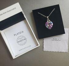 Plato H Swarovski Heart Love Crystal Necklace NIB