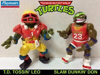 TMNT: Teenage Mutant Ninja Turtles - T.D. Tossin' LEO & Slam Dunkin' DON Figures