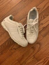 SKECHERS Ladies size 7 Lace-Up White Leather Tennis Shoes athletic shoes