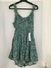 Goodnight Macaroon Floral Green Dress Womens Size Small Bnwt
