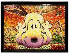 """RARE!!! """"NOBODY BARKS IN LA"""" by TOM EVERHART LE PEANUTS LITHOGRAPH! FRAMED MINT!"""