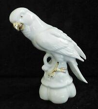 "6.5"" Beautiful Thuringia Bird Figurine, Cocktail, Parrot, Conure Porcelain"
