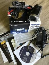 Sony HDR-CX100 8 GB Camcorder - Silver w/Box excellent condition