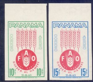 22/12.PANAMA,1963 FREEDOM FROM HUNGER SC.C282-C283 IMPERF. MNH,SCARCE,VERY FINE