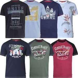 Men's Duke D555 Graphic Print T-Shirt Short Sleeve Crew Neck Cotton Blend New