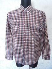 MEXX Brown/Blue/White Check Long Sleeve Men's shirt Size L