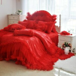2021 Bedding Set Luxury Lace Bedspread Bed Skirt Jacquard Home Top