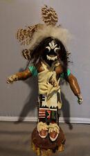 "Vintage Kachina Doll Black Ogre Nataska 12"" Signed BC 87 Katsina New Mexico art"
