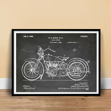 "HARLEY DAVIDSON 1928 MOTORCYCLE POSTER CHALKBOARD Patent Print 18x24"" (unframed)"