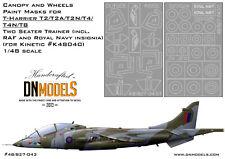 Canopy Paint Masks T-Harrier 1/48 Kinetic K48040 T2 T2A T2N T4 T4N T8 DN Models