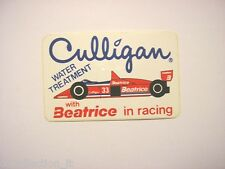 VECCHIO ADESIVO AUTO F1 / Old Sticker CULLIGAN BEATRICE RACING (cm 11 x 7)