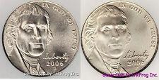 2006 P & D Jefferson Nickel pair Gem Bu Satin Finish No Reserve