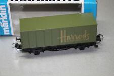 "Märklin 92502 2-Camion Container Carrello ""HARRODS KNIGHTSBRIDGE"" traccia h0 OVP"