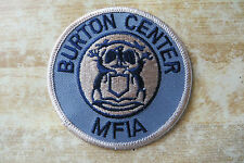 Burton Center MFIA crest collectible unknown company or club member patch