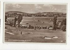 Miniature Golf Course Swanage 1957 RP Postcard  014a