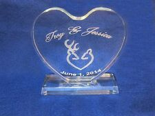crystal Browning Deer Wedding Cake Topper Engraved Personalize FREE