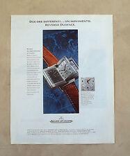E639 - Advertising Pubblicità -1995- JAEGER LE COULTRE OROLOGIO REVERSO DUOFACE