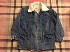 Vintage LEE STORM RIDER Denim Barn Chore Ranch Coat Sherpa Lined Size XL!!!
