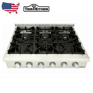 Thor 36'' Gas Range Top with 6 Burner Stainless Steel Oven Stove top HRT3618U US