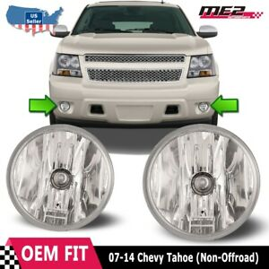 For Chevy Tahoe 07-14 Bumper Driving Fog lights Lamps Replacement Pair Clear