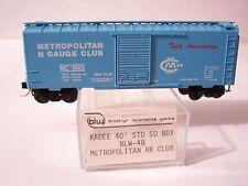 MICRO TRAINS LINE MTL KADEE SPECIAL RUN BLW 48 METROPOLITAN N GAUGE CLUB 1982 N