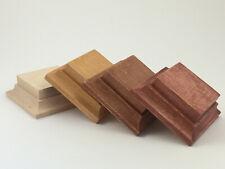 Wooden base stand in alder for foot figure 54-60mm