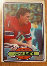 1980 Topps, John Smith New England Patriots, #291 Trading Card