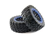 King Motor X59029-b KM X2 Wheel Complete - Blue beadlocks - Pair 1/5th RC