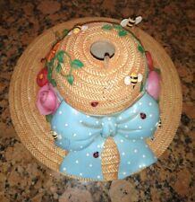 "Mary Engelbreit In the Garden Hat w/ Polka Dot Bow Birdhouse 11"" *Rare* 2002"