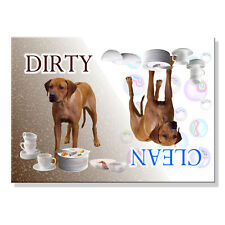 RHODESIAN RIDGEBACK Clean Dirty DISHWASHER MAGNET New