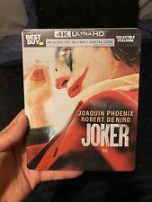 JOKER STEELBOOK (4K UHD + Blu-Ray + Digital Copy) New & Sealed Best Buy Sold Out