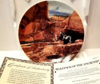 """Bradford Exchange Plate: The Faces Of Nature """"Wolfpack of the Ancients"""""""