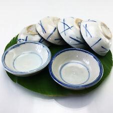 Set 6x THAI Multi-Purpose for Sauce Sweet Dessert Streamer Ceramic Bowl Cup Mold