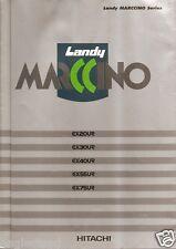 Equipment Brochure - Hitachi - Ex ser Landy Marccino Excavator Japanese (E2249)