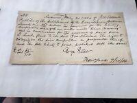 Handwritten signed letter receipt  George Pellew