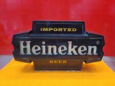 New listing Vintage Heineken Imported Beer Bar Light Sign Wall Mount or Counter Man Cave