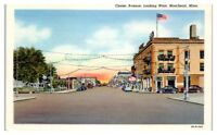 Center Avenue looking West, Moorhead, MN Postcard