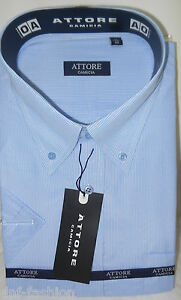 Camicia classica uomo Attore mezza manica collo classico art 105