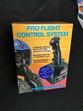 Thrustmaster Pro Flight Control System Joystick in Orig Box Plus Dial Controller