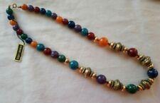 Genuine Lucite Plastic Bead Retro Vintage Style Necklace Beaded